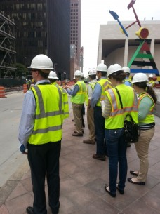 ASCE and YPT members tour construction sites throughout downtown Houston.