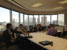 Networking and enjoying the beautiful view of Houston.