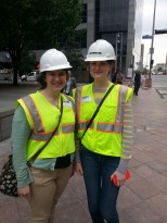 YPT Members practiciing safety during METRORail tour.