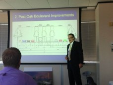 John Breeding describing the concept for BRT in Uptown Houston.