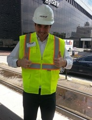 YPT President Nick Norboge ready to tour METRORail.